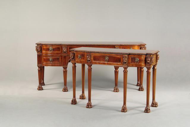 A Regency style mahogany breakfront sideboard
