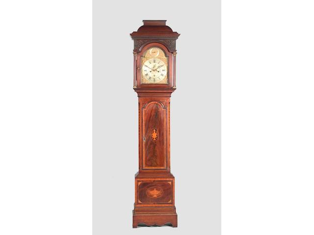 A George III mahogany longcase clock by William Hopkins, Fenterden