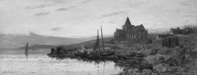 W. Stuart Lloyd (fl.1875-1929) St. Monans 41 x 102cm