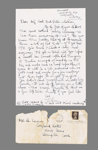 A letter from John Lennon to his father, Alfred, 1967,