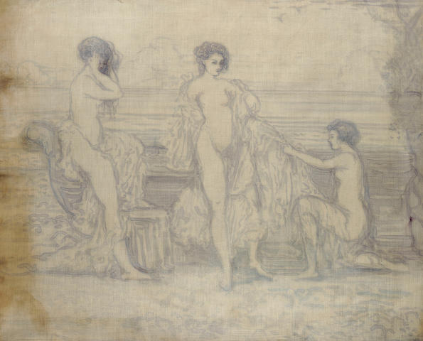Charles Conder (Australian, 1868-1909) The Three Graces 71.8 x 86.4 cm. (28 1/2 x 34 in.)