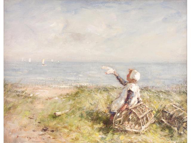 Robert Gemmell Hutchison RSA RBA ROI RSW (1855-1936) A summer's day 35 x 45cm