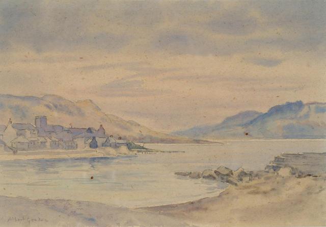 Albert Goodwin (1845-1932) 'Lyme Regis' 19 x 28cm (7 1/2 x 11 1/2in)