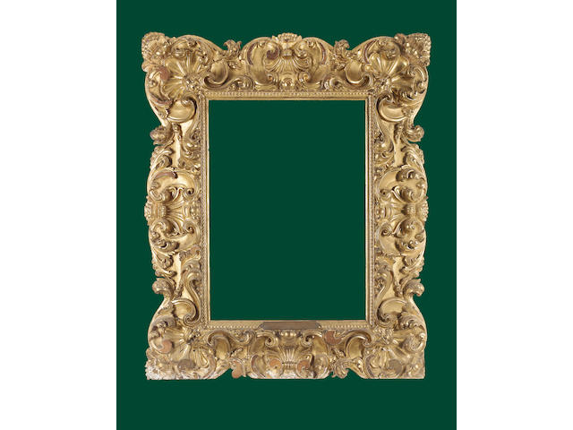 A Florentine 18th Century carved and gilded frame,