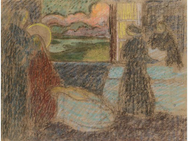 Maurice Denis (French, 1870-1943) Salon de la Rose Croix 40 x 50cm (15 3/4 x 19 3/4in)
