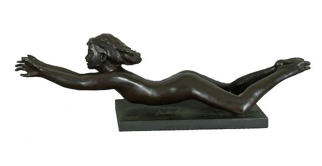 Sydney Harpley (1927-) 'Breast Stroke' 72cm (28 1/4in) in length