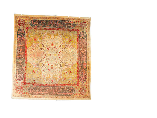 An Amritsar carpet of Unusual size North India, 11 ft 10 in x 11 ft (360 x 335 cm)