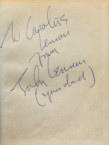 An autographed copy of 'In His Own Write', 1964,