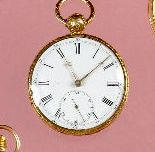 An 18ct gold open faced pocket watch, Robt.Roskell of Liverpool