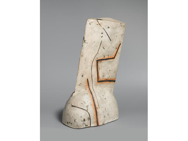 Gordon Baldwin a very large sculptural leaning Form, 1987 Height 25in. (63.5cm)