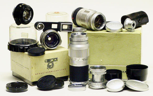 "Leica ""M"" Mount lenses, including a black Summicron-M f2/35mm, and several others.  (qty)"