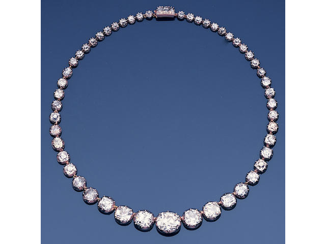 A 19th century diamond rivière