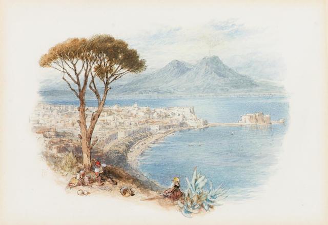 Myles Birket Foster, R.W.S. (British, 1825-1899) Naples 11.5 x 16.5 cm. (4 1/2 x 6 in.)