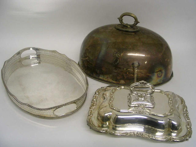 A matched pair of late 19th/early 20th Century entree dishes and covers, by Elkington and Co,