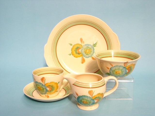 A Clarice Cliff part tea set