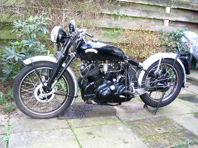 1952 Vincent 998cc Black Shadow  Frame no. RC/10660B Engine no. F10AB/1B/8760
