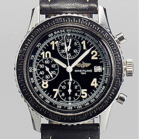 Breitling. A rare stainless steel automatic calendar chronograph wristwatch 'Navitimer Prototype Bale 95' 1990s