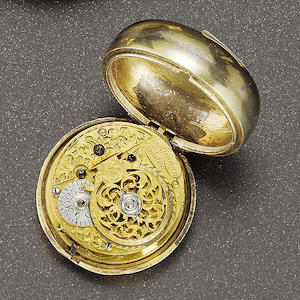 George Graham. An early 18th century verge pocket watch with associated outer horn case  No.4926