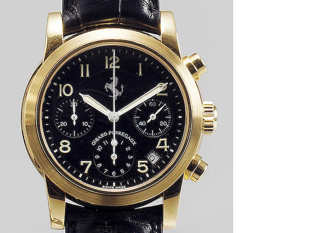 Girard Perregaux. A fine and rare gents 18ct gold automatic chronograph calendar wristwatch  Ferrari, Ref:8020, recent