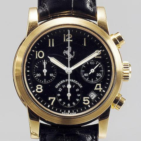 Girard Perregaux. A fine and rare gents 18ct gold automatic chronograph calendar wristwatch  Ferrari, Ref:8020, recent