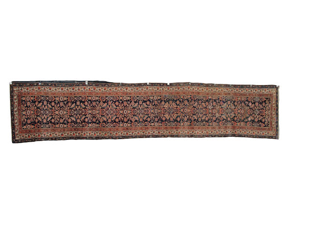 A pair of Malayir runners West Persia, 470cm x 103cm