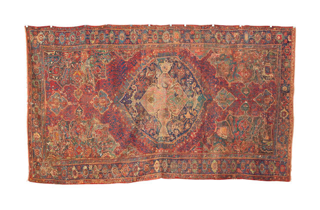 A 17th century Ushak carpet West Anatolia, 15 ft 6 in x 8 ft 10 in (472 x 254 cm) restoration