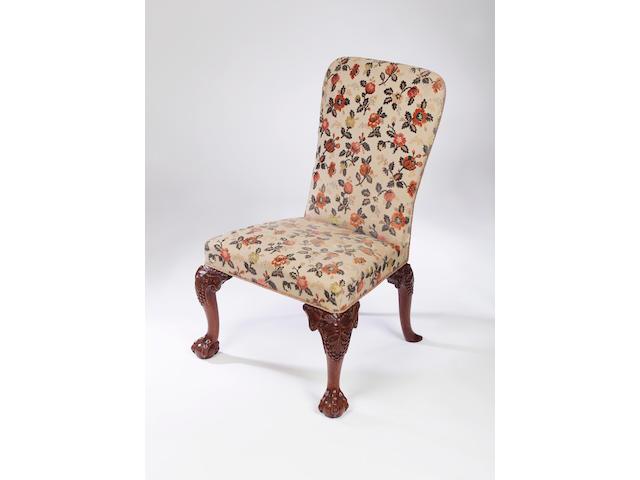 An George II walnut side chair,circa 1740