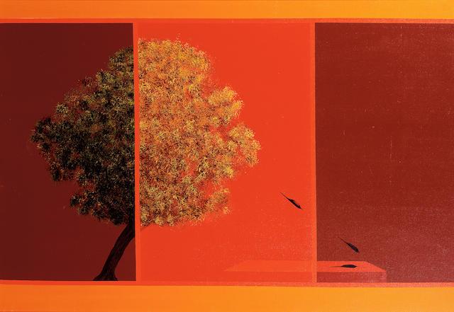 Jagdish Swaminathan (India, 1928-1993) The Tree, the Bird, the Shadow