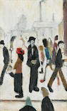 Laurence Stephen Lowry R.A. (1887-1976) People in a street  23.5 x 15 cm. (9 1/4 x 6 in.)