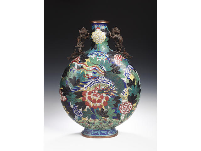 A Chinese cloisonne vase,
