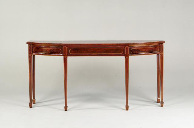A 19th century mahogany serving table