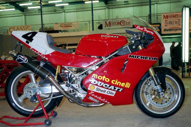 The ex-Carl Fogarty, Michael Rutter, Northwest 200-winning,1993 Ducati 888 Corsa