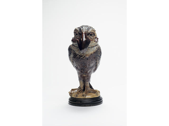 Martin Brothers, 1899 A Stoneware Grotesque Bird Jar and Cover