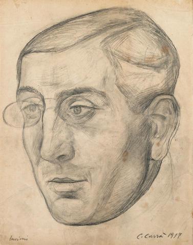 Carlo Carrà (1881-1966) Ritratto di Alberto Savinio 28.7 x 22.5 cm. (11 1/4 x 8 7/8 in.)