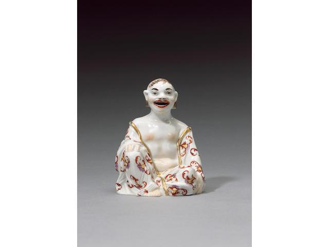 A fine Böttger porcelain pagoda figure circa 1725