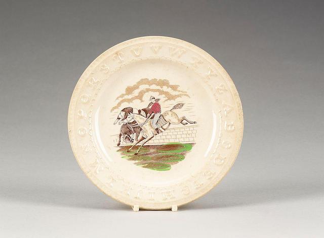 Twelve pottery nursery plates, circa 1840,