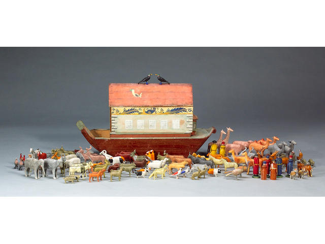 Noah's Ark and animals, German circa 1880