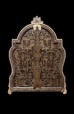 An Important Regence brown tortoiseshell and brass marquetry Toilet Mirror,  possibly attributable BVRB I,