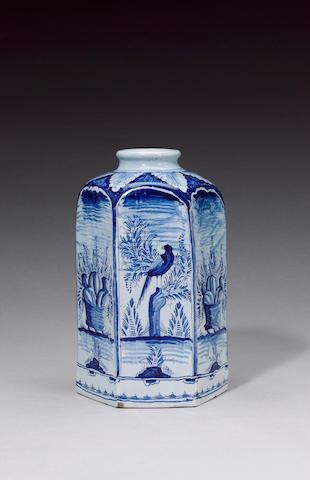 A rare German fayence bottle early 18th century