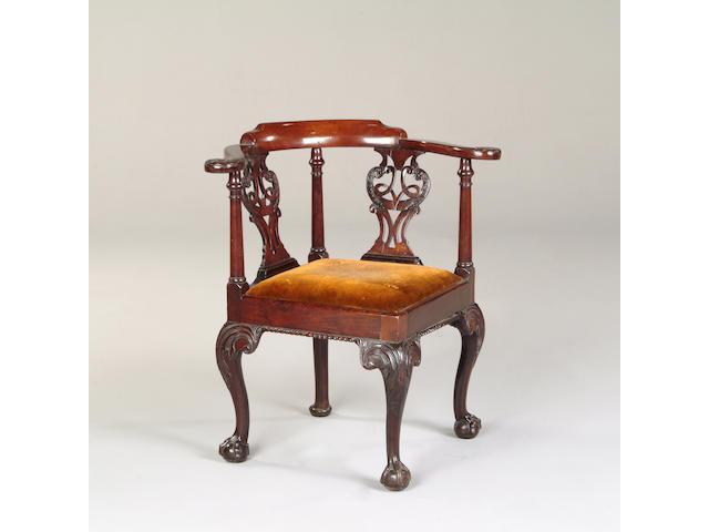 Georgian corner armchair