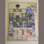 Bahram Gur and the princess in the green pavilion: an illustrated leaf probably from a manuscript of