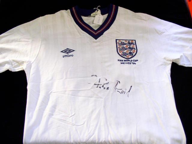 World Cup worn England shirt,