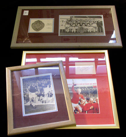Bobby Moore signed 1966 montage,