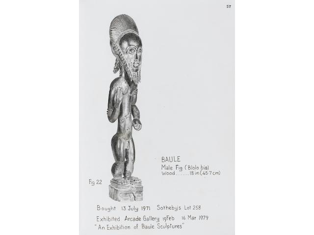 Baule male standing figure  45.7cm