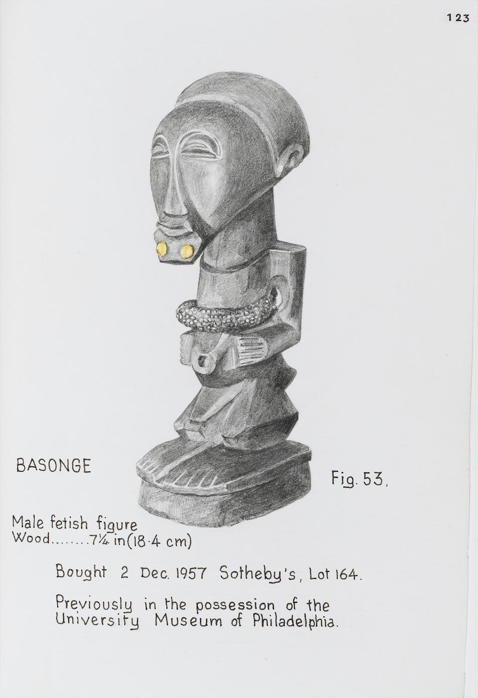 A Songye male fetish figure 18.4cm