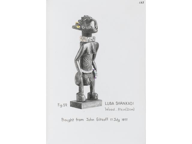 Luba Shankadi female figure  21cm