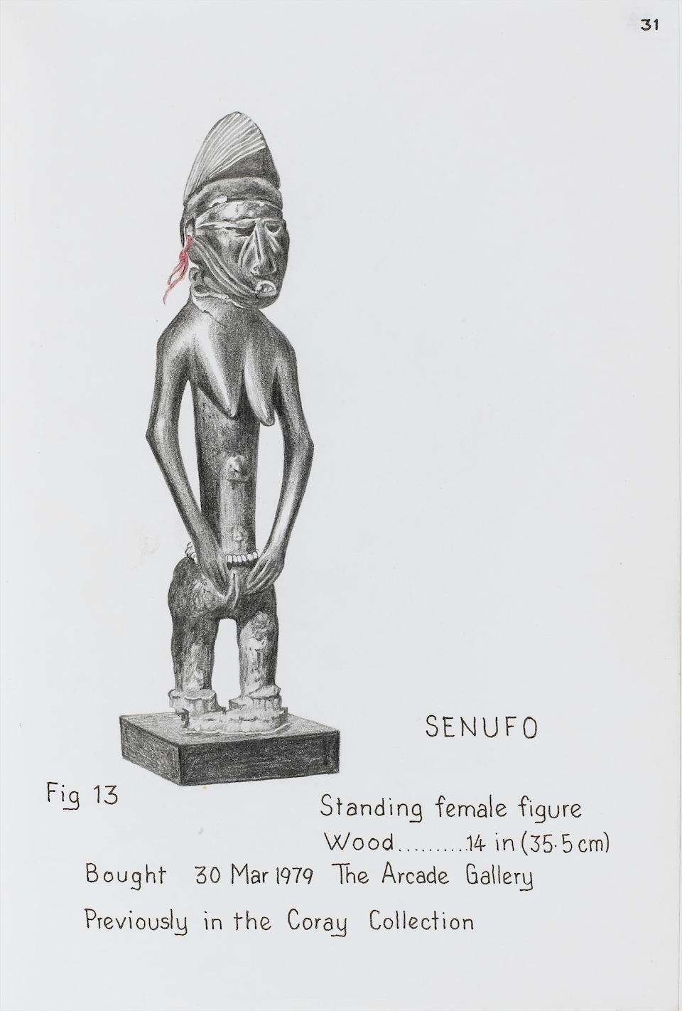 A Senufo female figure 35.5cm