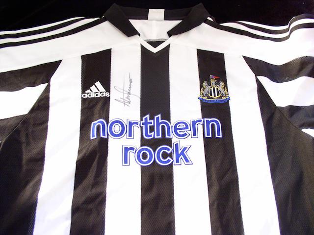 Shearer signed shirt,