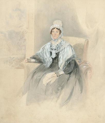 Edward Hastings (British, 1781-1861) Portrait of a lady, 38 x 33 cm (15 x 13 in.)