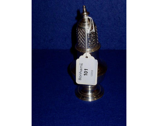 A late 18th century Channel Islands silver pepper pot, by Pierre Amiraux